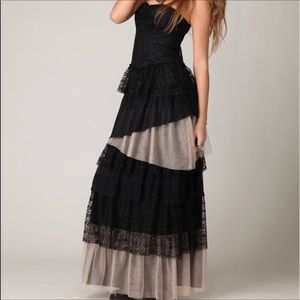 NWOT Free People strapless layers in lace dress